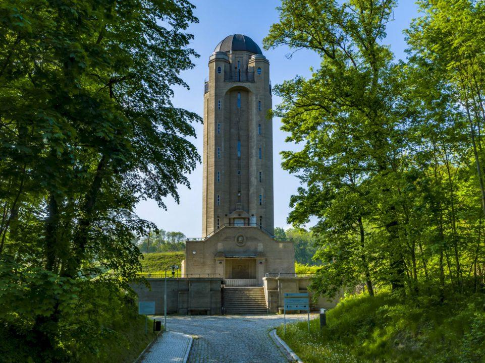 Fotografia Wieży Ciśnień wykonana przez Fotografa z Nysy za pomocą drona
