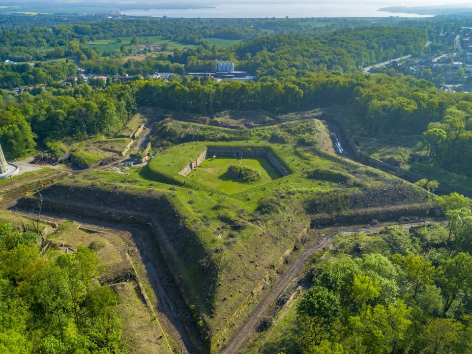 Fotografia Fortu prusy wykonana przez Fotografa z Nysy za pomocą drona