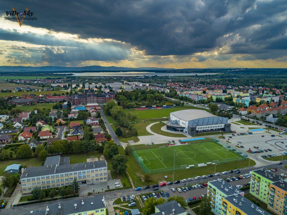 Zdjęcie Hala Nysa z drona_Vidrosky