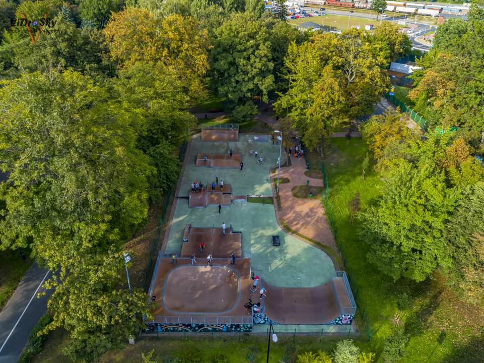 Skatepark w Nysie, zdjęcie z drona_Vidrosky